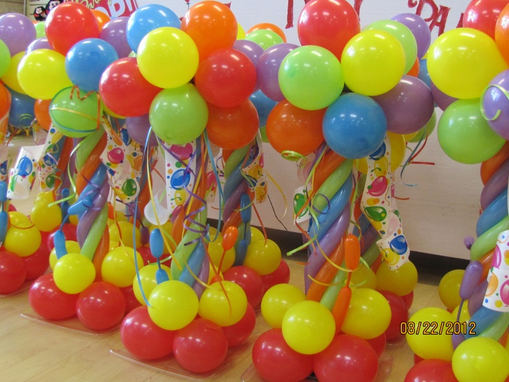 Easy balloon decorations no helium for Balloon arch no helium