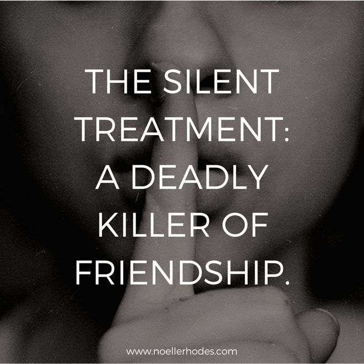 silent treatment abuse is a relationship killer facebook