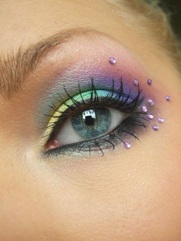 happy rainbow fairy halloween make up
