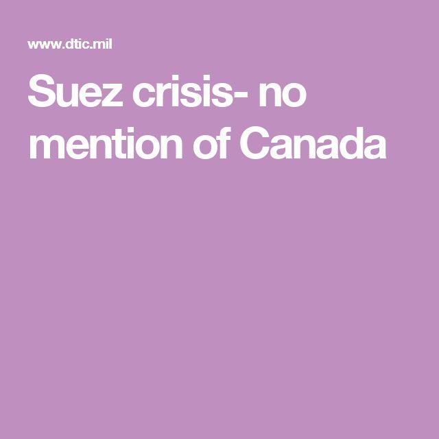 Suez crisis- no mention of Canada