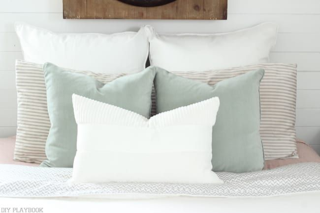 DIY King sized Pillow Shams and Bed