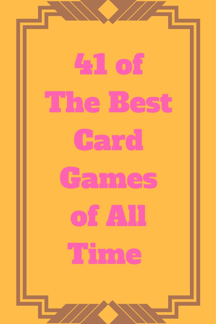 If you are looking for some fun card games to play, look no further. Here you will find 41 of the best card games of all time. A list of single player, 2 player, 3 player, and 4 player card games. Card games for kids and card games for adults, all in one easy to read post.