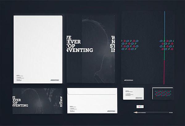 Mediovski Branding by Kamil Kucharczyk , via Behance
