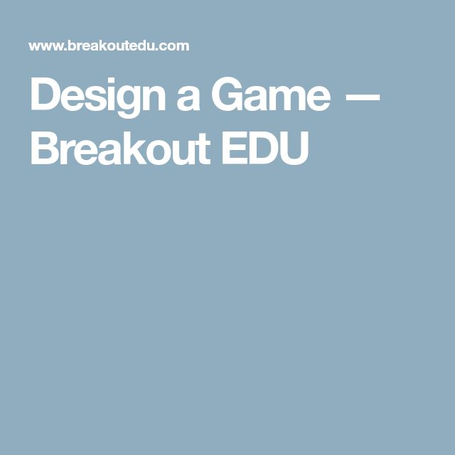 Design Room Breakout Game Edu