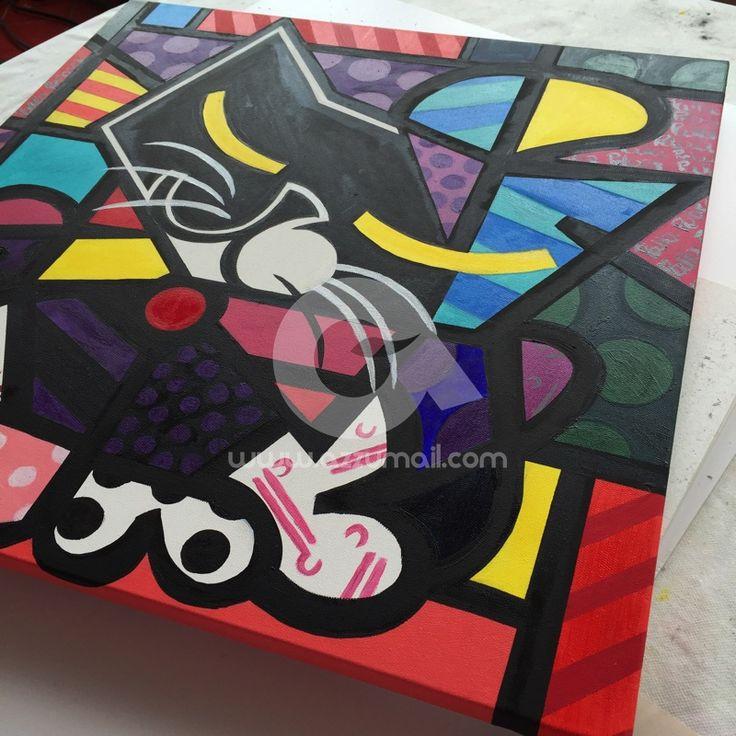 10-ritratto-work-in-progress-romero-britto-inspiration-style-moderno-copia-quadro-gatto