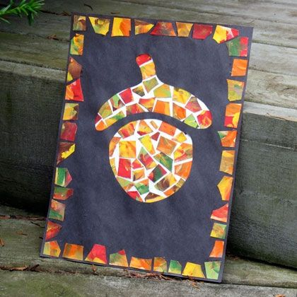 Fall Art Projects for Students   Fall Craft Ideas on Patchwork Acorn Fall Kids Crafts Indoor Activities ...
