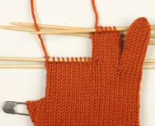 Knitting Tip - Gloves.  (Just in case I get ambitious and talk myself into knitting a pair of gloves!)