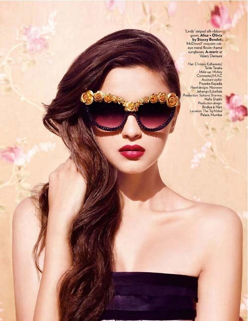 Actress Alia Bhatt photo-shoot for Vogue magazine. Alia Bhatt, who was seen as child artist in Bollywood film 'Sangharsh' is debuting as heroine through Karan Johar's 'Student of the Year'.