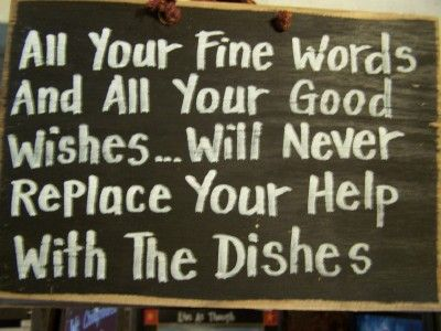 Funny Wood Signs with Sayings | The Dishes Sign-funny kitchen sign, hand crafted in the U.S.A. sign ...