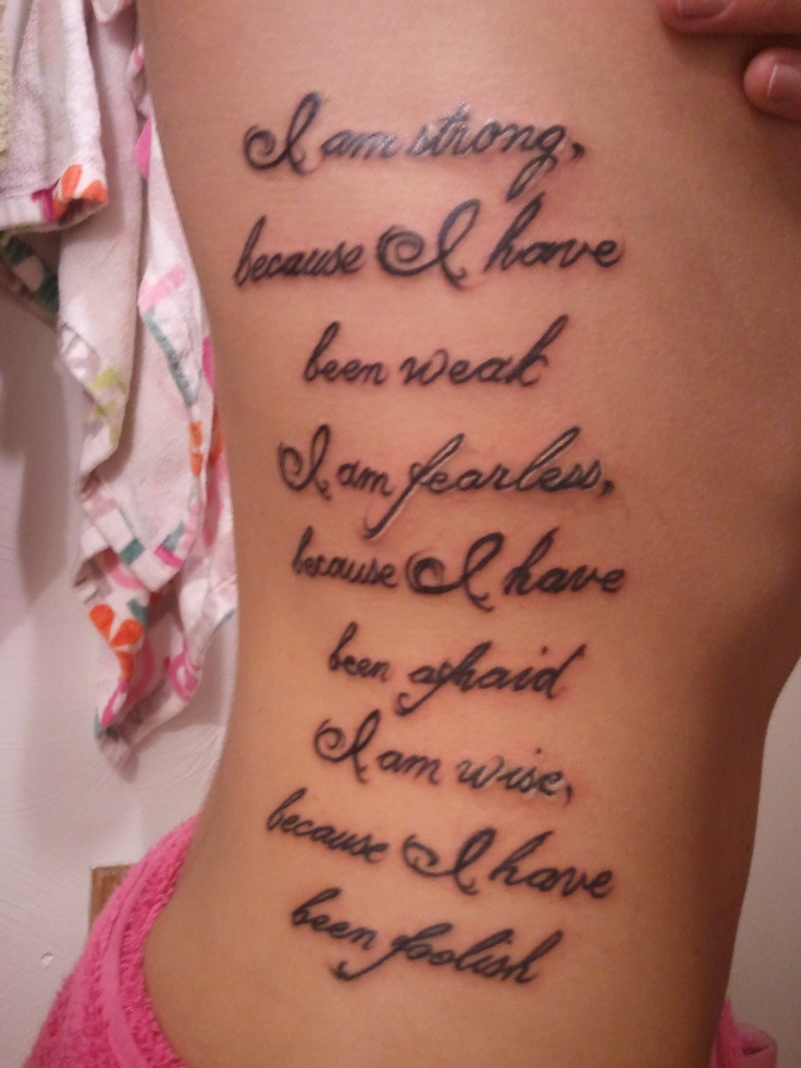 75 best images about ribcage tattoos on pinterest for Good quotes for tattoos on ribs