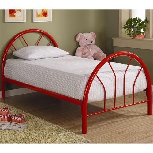 Coaster Furniture 2389R Fordham Twin Metal Bed in Red #coasterfurniturecouch #coasterfurniturebeds