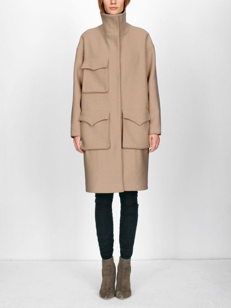 Nanushka Store - SETH - Big pocket wool coat