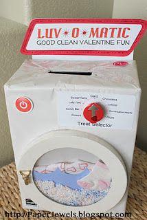 Washing Machine Valentine Box