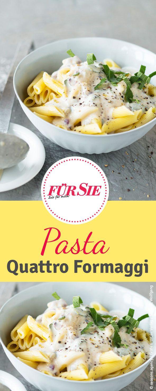 Ob mit mildem Emmentaler oder herzhaften Appenzeller: Das Rezept für Pasta Quattro Formaggi mit einer schnelle und köstliche Pasta-Soße.