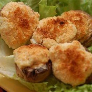 The Best Seafood Stuffed Mushrooms