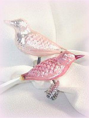Vintage bird ornaments ~Debbie Orcutt ❤