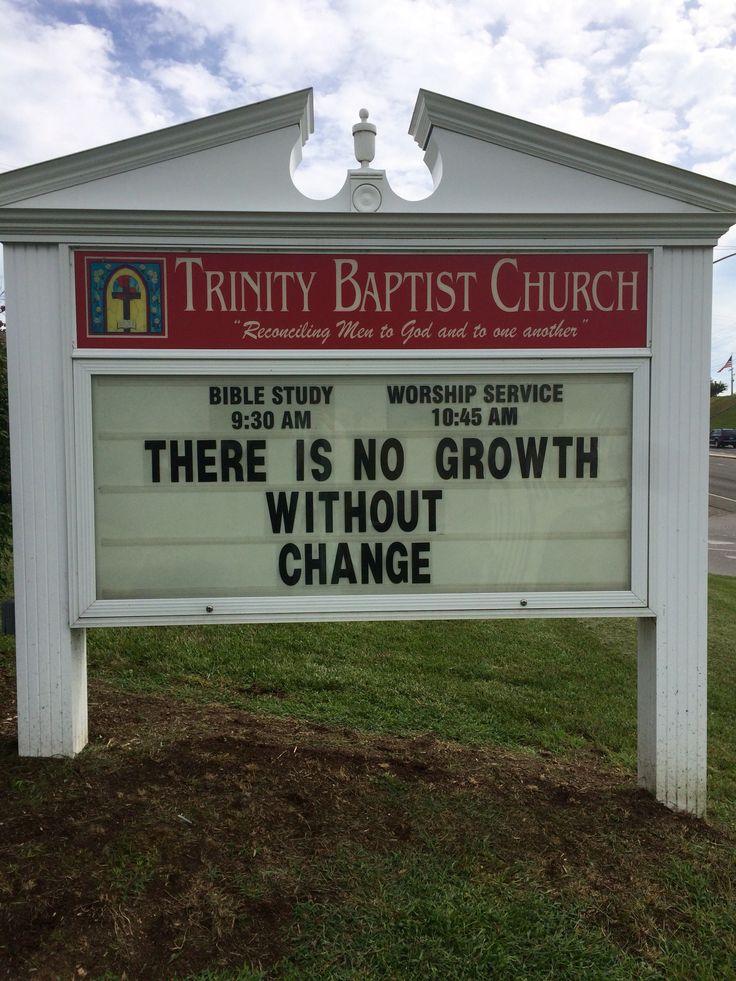 Trinity Baptist Church  Christiansburg, Va  Church marquee sign