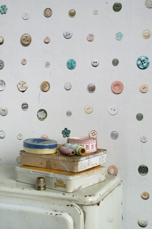 Buttons + Birdhouses For Your Walls wallpaper
