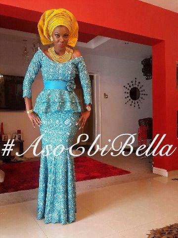 @Adeyinka Ogunlegan Ogunlegan fitted ankara naija asoebi blue Nigerian weddings bride dress