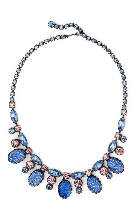 Schiaparelli blue lava rock necklace