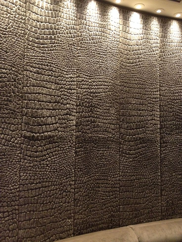 PHOTO 20 Velvet Bar: The curved walls are covered in a textured crocodile looking velvet providing sound insulation as well as decoration.