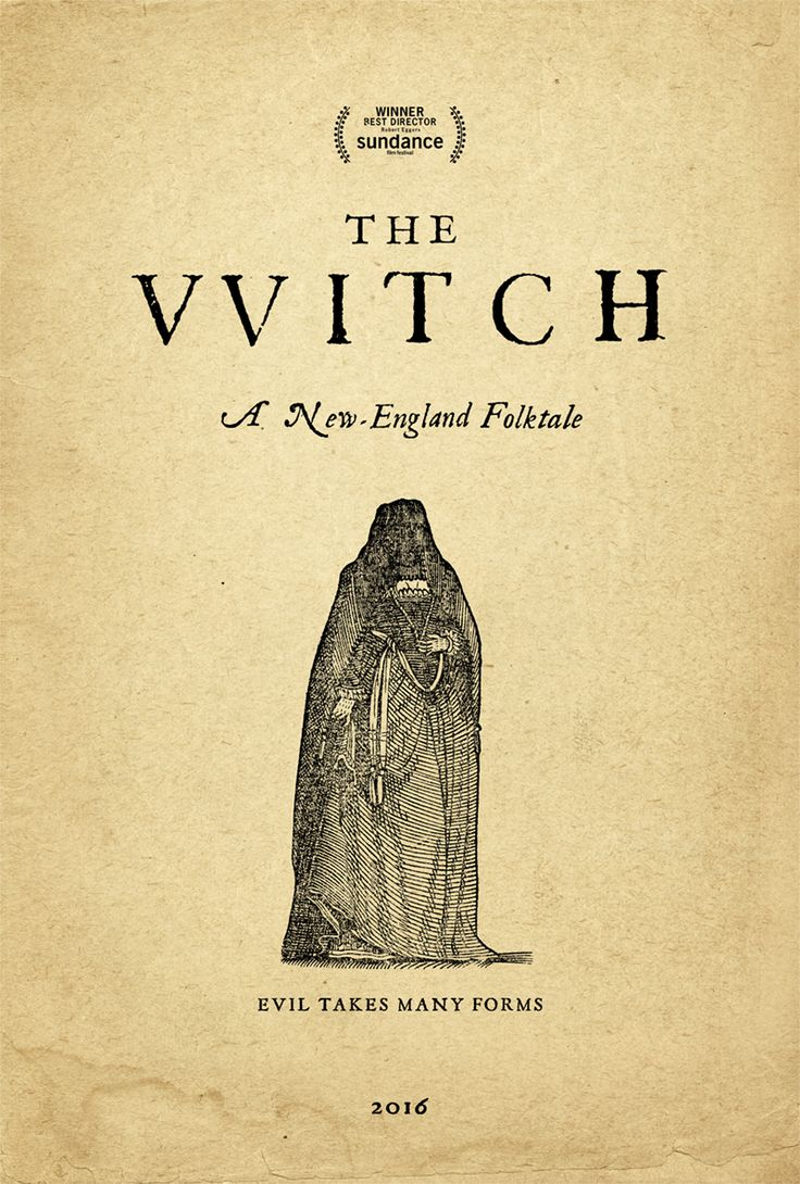 """Sorry guys, I thought it was entirely overrated. Good movie, but did not deliver on all the """"Church of Satan,"""" """"it's a super twisted/Metal movie!!"""" hype. IMO  """"Robert Eggers''The Witch' Poster by MM"""""""
