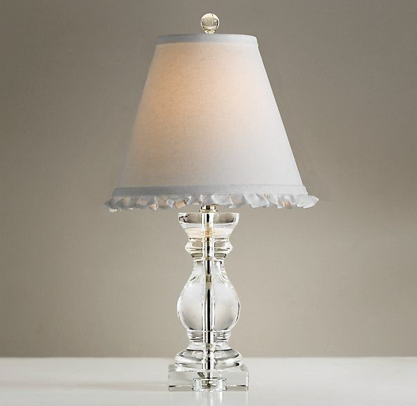 Rh baby s lucia table lamp baseour solid crystal lamp re creates the shape of a classic stairway baluster with petite proportions that make it a