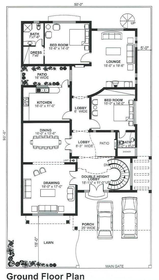 Pin By Rahman Fu On Grid Plan Single Storey House Plans Free House Plans My House Plans