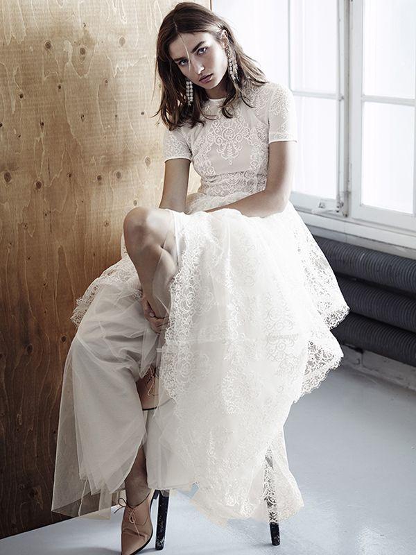 Vestido de novia lowcost de H&M #vestidosdenovia #weddingdress #tendenciasdebodas