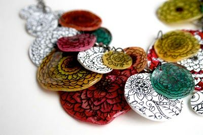 Beautiful use of shrinky dinks, from Alisa Burke