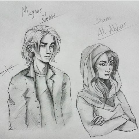 Magnus Chase fan art is finally starting to pop up! (idc if this is a percy jackson board, I'm not making a whole new one for this!)