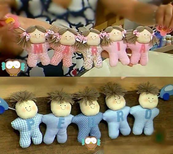 cordão de bonecas de pano - free pattern and videotutorial