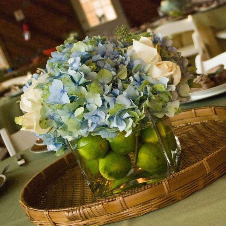 Best ideas about blue hydrangea centerpieces on