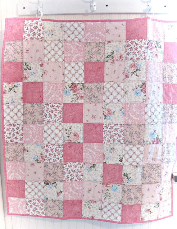 Pretty In Pink Patchwork Baby Quilt