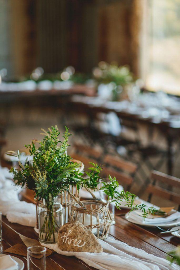 Rock Table Number - Lovebird Weddings, Noosa Australia