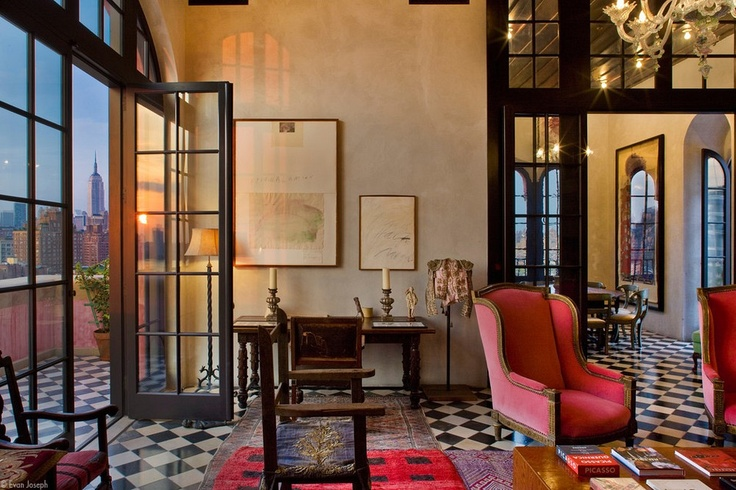 Julian Schnabel's Triplex Penthouse