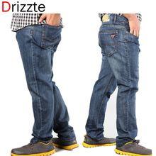 Drizzte Plus tamaño grande 40 42 44 46 48 50 52 Mens altas Stretch invierno otoño Big and Tall grande pantalones vaqueros para hombre(China (Mainland))
