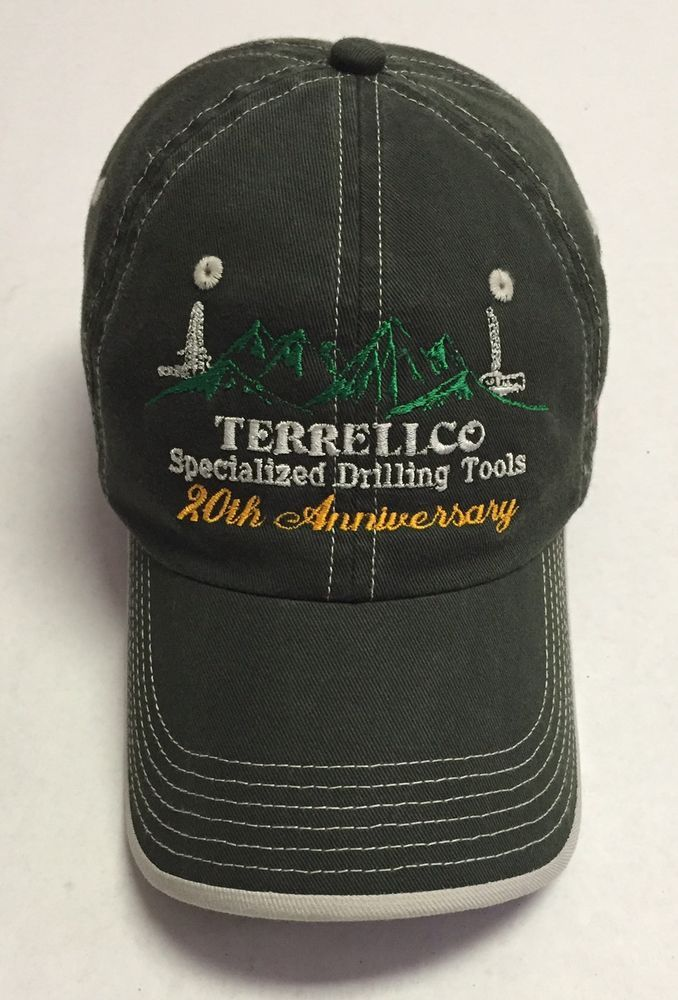 Terrellco Specialized Drilling Tools Hat Casper Wyoming Baseball Cap WY Green #PortAuthority #BaseballCap
