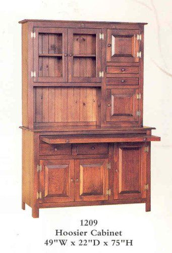 Hoosier Cabinet - Mahogany Stain For the home Pinterest