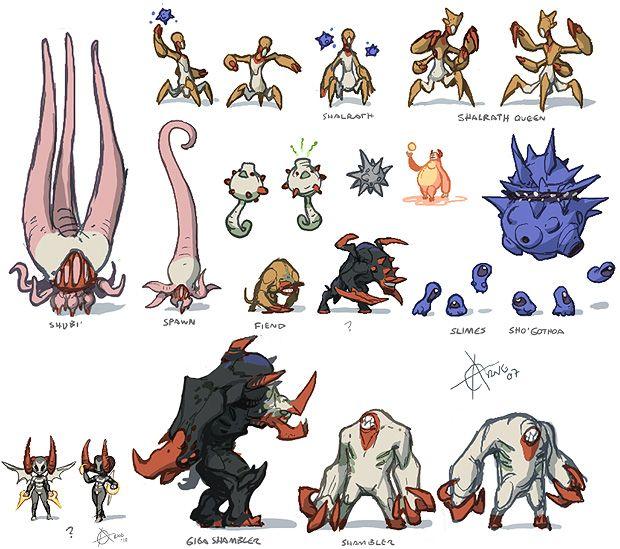 Creature And Character Design Book : Kawaiik demons thumbnails creature design arne niklas