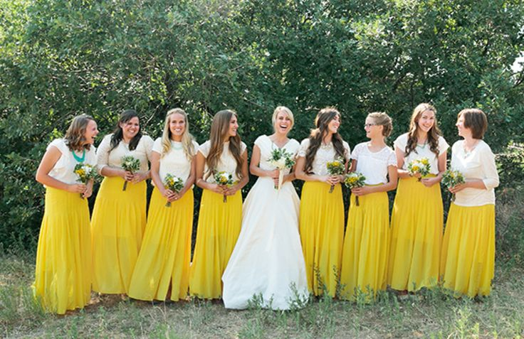 7 UNIQUE AND UNCONVENTIONAL OUTFITS FOR YOUR BRIDESMAIDS!  | http://brideonabudget.co/7-unique-and-unconventional-outfits-for-your-bridesmaids/