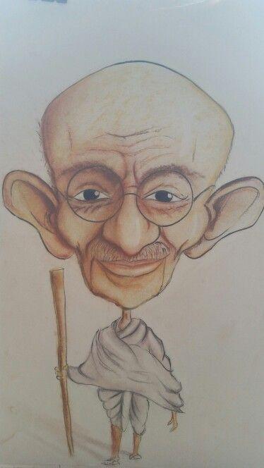 Gandhi caricature.