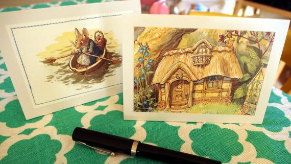 Set of 2 Mimi's Dream House Greeting Cards by MagpieSailor, $6.50