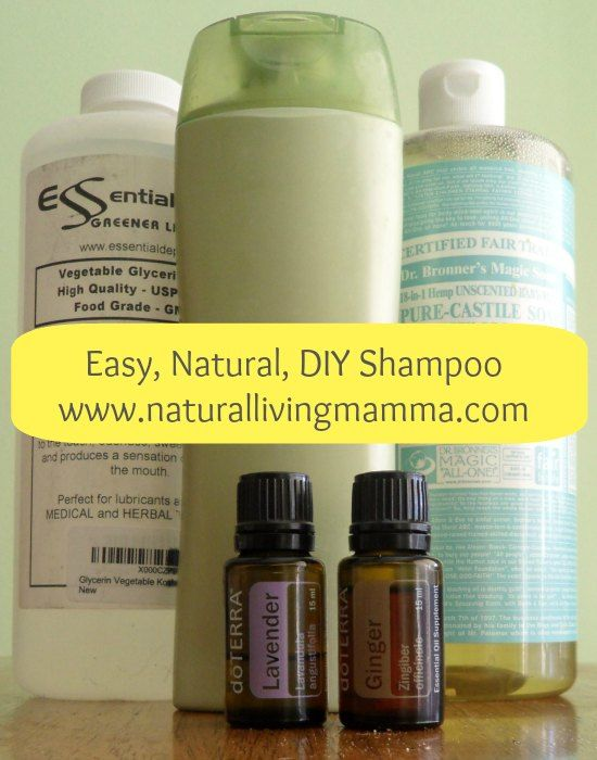 Easy, Natural, DIY Shampoo.     With 3-4 simple ingredients anyone can make their own shampoo for pennies on the dollar!     This shampoo cleanses well and leaves your hair happy, healthy and chemical free. It even suds up!