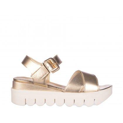 Sandale Epica aurii, din piele naturala