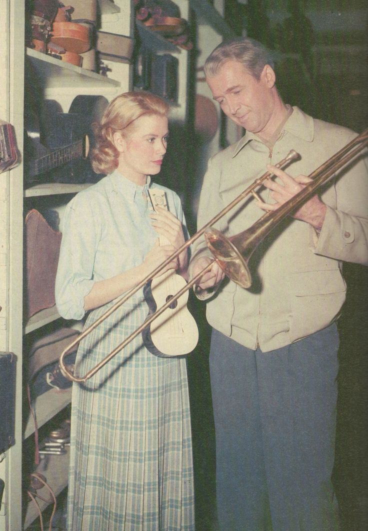 """Grace Kelly and Jimmy Stewart during the filming of 'Rear Window"""" 1953"""