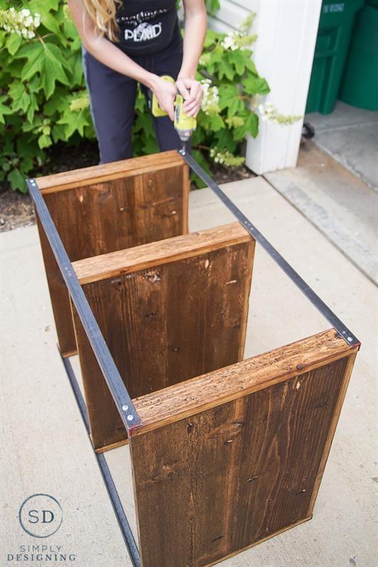 Attach Angle Iron To Shelves Bookshelves Diy Diy Wood