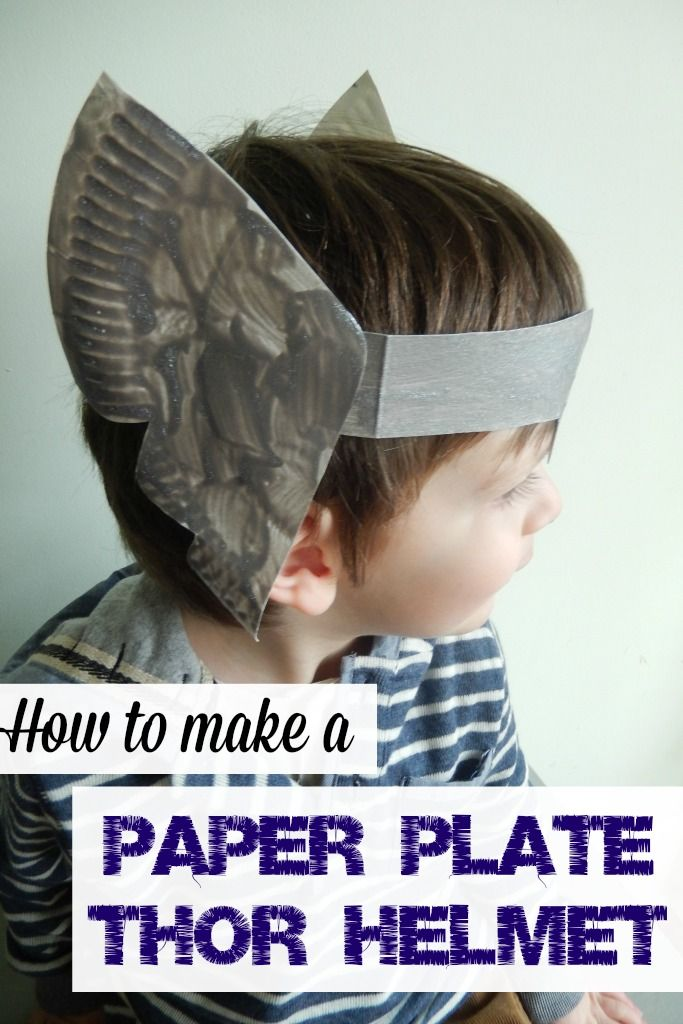 Paper Plate Thor Helmet DIY