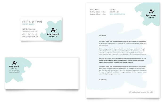 Apartment Business Card and Letterhead Template Design by - company letterhead template