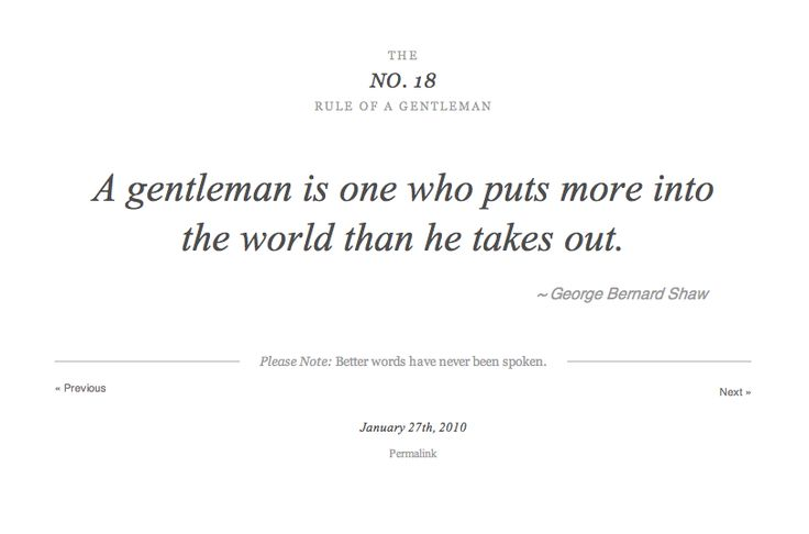 rules of a gentleman | The Rules of a Gentleman « thewhiskeybarrel